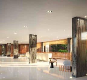 One Crosstown Condos - Lobby - Interior Render