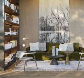 One Crosstown Condos - Lounge - Interior Render