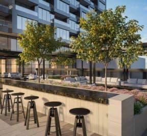 One Crosstown Condos - Outdoor Terrace - Interior Render