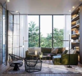 One Crosstown Condos - Terrace - Interior Render