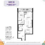 Reunion Crossing Condos - Suite 2H - Floorplan