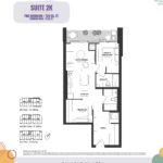 Reunion Crossing Condos - Suite 2K - Floorplan