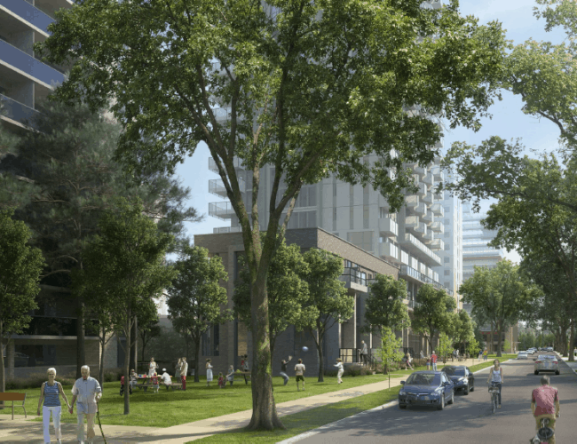 111 Pacific Avenue - Street Level View - Exterior Render