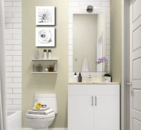 400 East Mall - Bathroom - Render