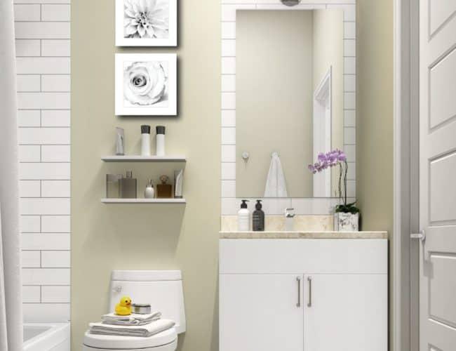400 East Mall - Bathroom - Render