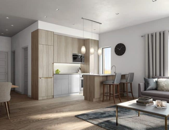 400 East Mall - Kitchen - Render