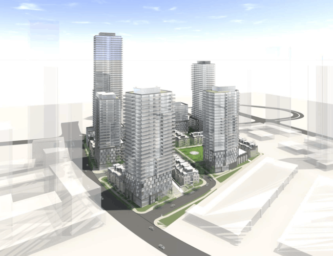 670 Progress Avenue - Bird's Eye View Exterior Render