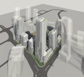 670 Progress Avenue - Bird's Eye View Exterior Render