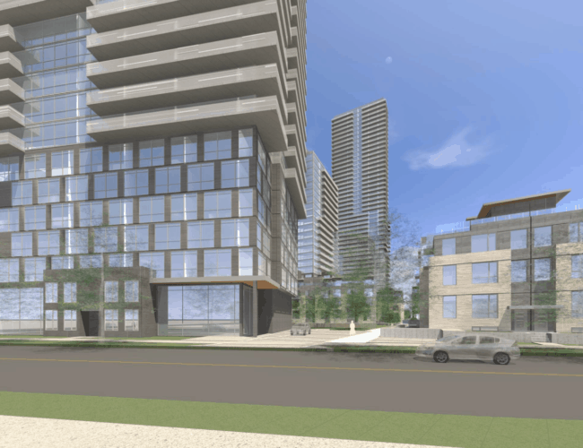 670 Progress Avenue - Street Level Exterior Render