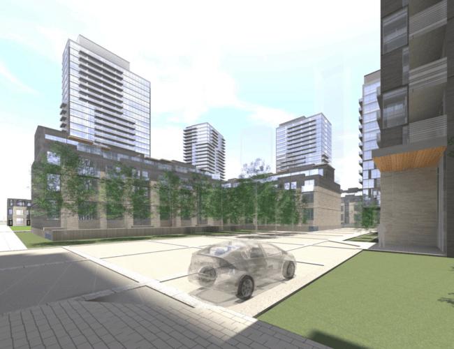 670 Progress Avenue - Street Level Exterior Render