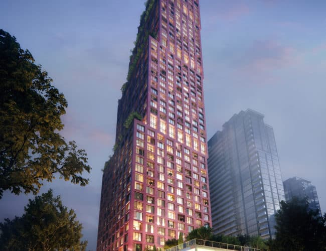 CG Towers - Exterior Render - Street Level View