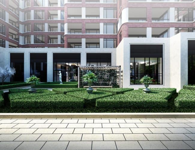 Edenbridge Kingsway Condo - English Garden Render