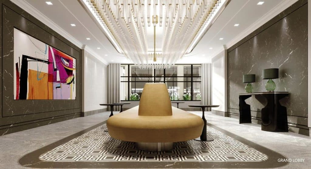 Edenbridge Kingsway Condo - Grand Lobby Render
