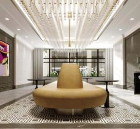 Edenbridge Kingsway Condo - Grand Lobby Render