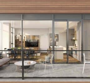 The Poet Condos - Exterior Suite Balcony Render