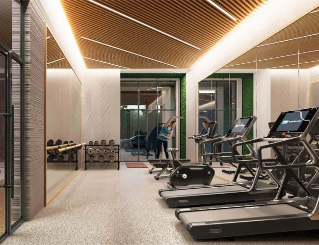 The Poet Condos - Interior Gym Render