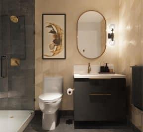 The Poet Condos - Interior Suite Bathroom Render