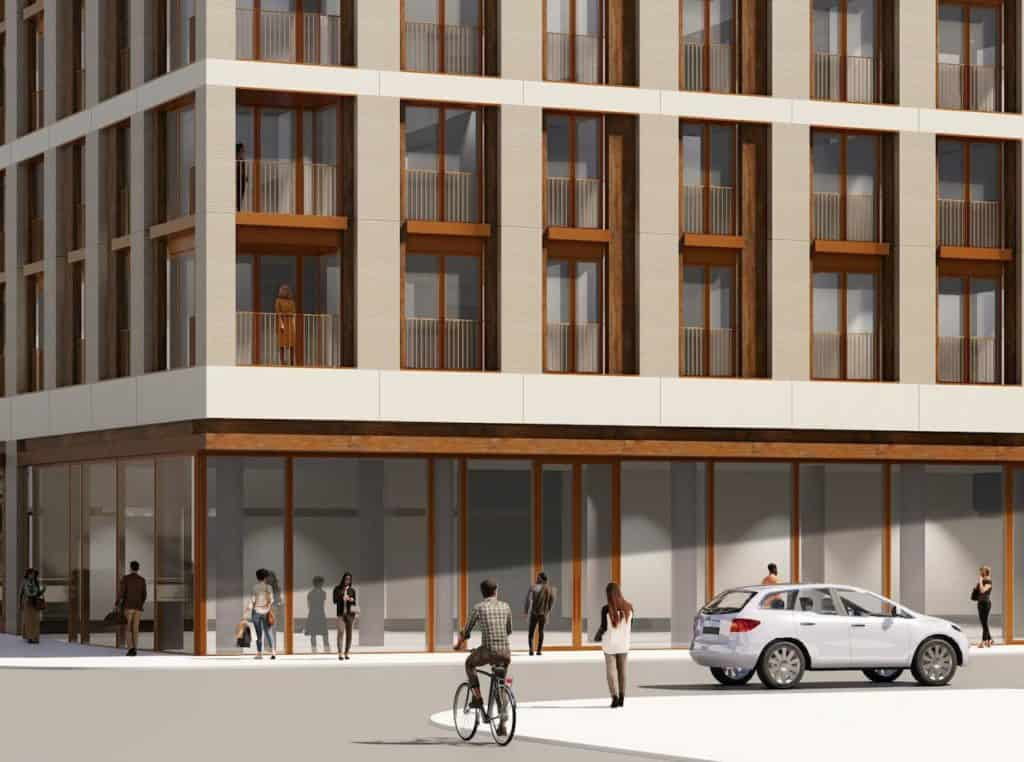 123 Portland Condos - Street Level View - Exterior Render