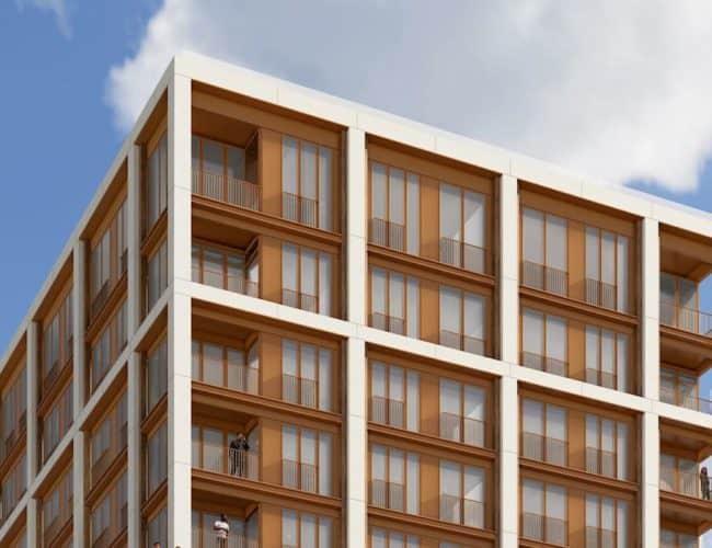 123 Portland Condos - Street Level View - Exterior Render