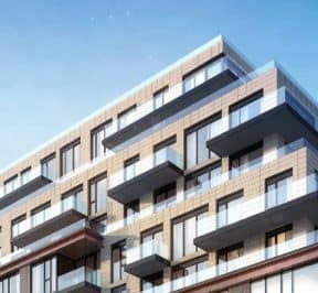 250 Lawrence Avenue West Condos - Street Level View - Exterior Render
