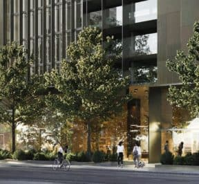 55C Condos - Street Level View - Exterior Render