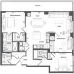 609 Avenue Road Condos - Suite 3I - Floorplan