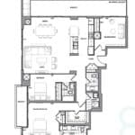 609 Avenue Road Condos - Suite 3M - Floorplan