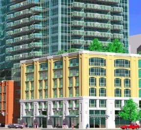 99 Blue Jays Way Condos - Street Level View - Exterior Render