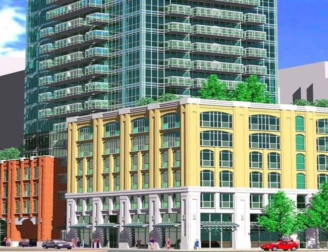 99 Blue Jays Way Condos - Street Level View - Exterior Render
