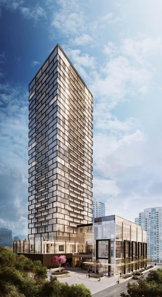 Beacon Condos - Street Level View - Exterior Render