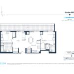 The Branch Condos - Cedar 869 - Floorplan