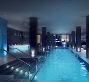 E Condos - Pool - Interior Render