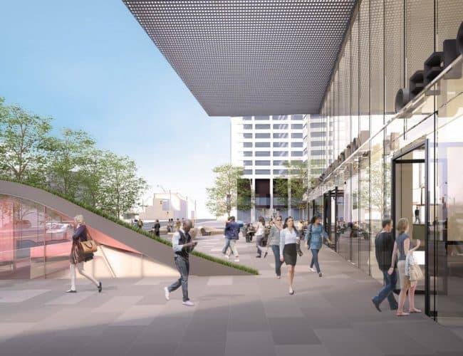 E Condos - Street Level View - Entrance - Exterior Render