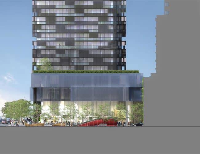 E Condos - Street Level View - Exterior Render