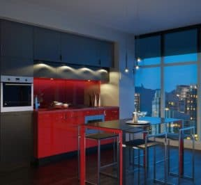 E Condos - Suite Kitchen and Dining - Interior Render