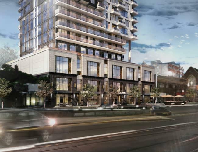 Linx Condos - Street Level View - Exterior Render