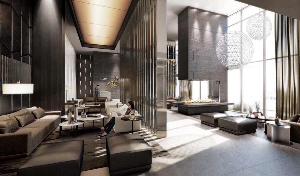 Beacon Condos - Lounge - Interior Render