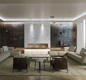 M Condos - Lounge - Interior Render
