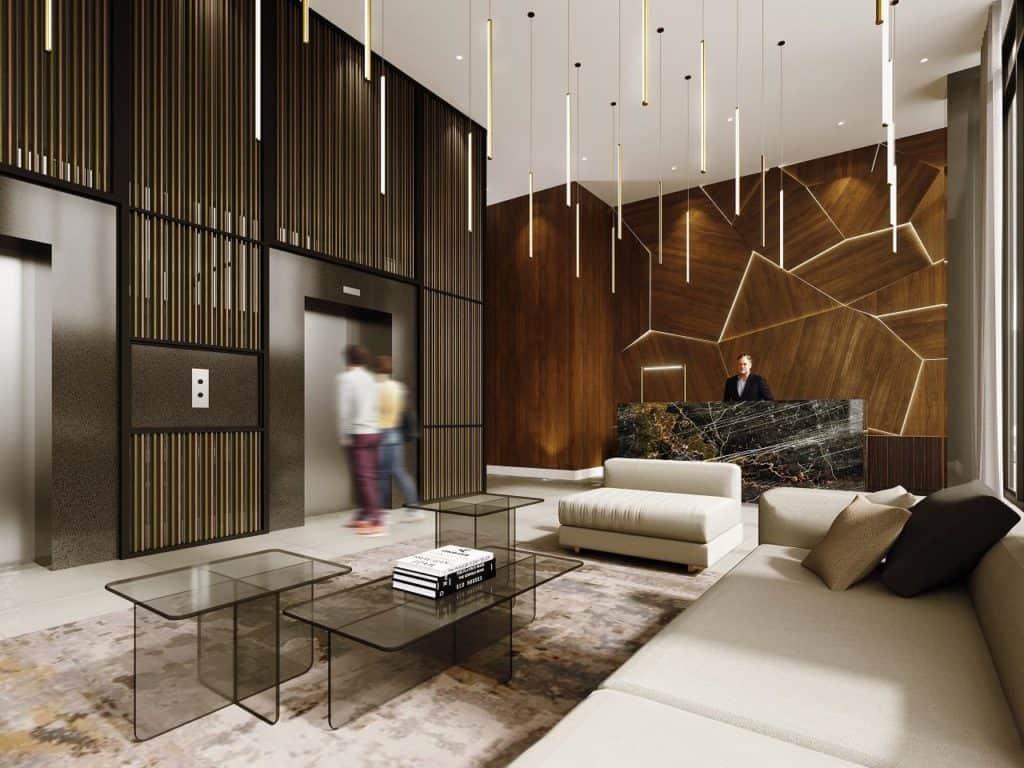 Monza Condos - Lobby - Interior Render