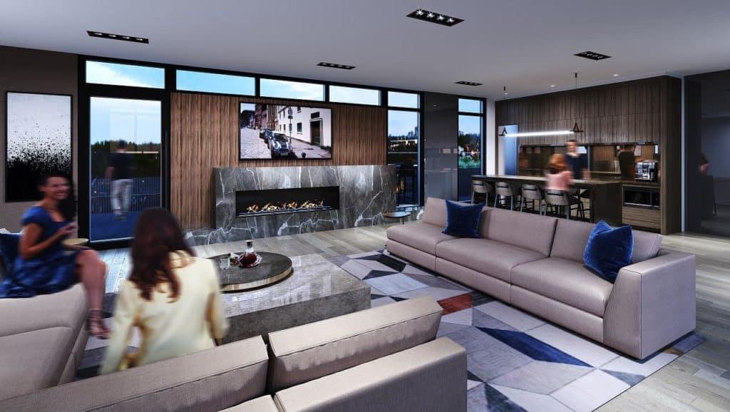 Monza Condos - Lounge - Interior Render