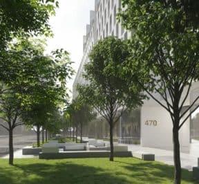 Nordic Condos - Street Level View - Exterior Render
