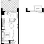 SXSW Condos - S 588-B - Floorplan