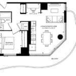 SXSW Condos - SW 619 - Floorplan