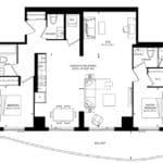 SXSW Condos - SW 1242 - Floorplan