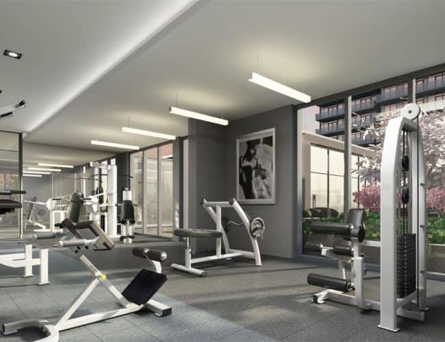 SkyCity Condos - Fitness Centre - Interior Render
