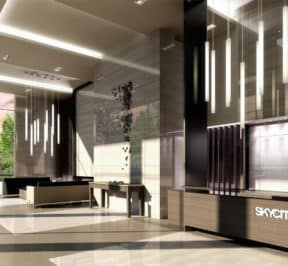 SkyCity Condos - Lobby - Interior Render