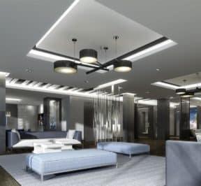 SkyCity Condos - Party Room - Interior Render