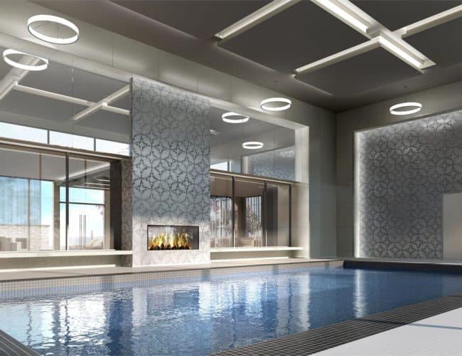 SkyCity Condos - Pool - Interior Render
