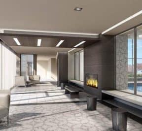 SkyCity Condos - Pool Lounge - Interior Render