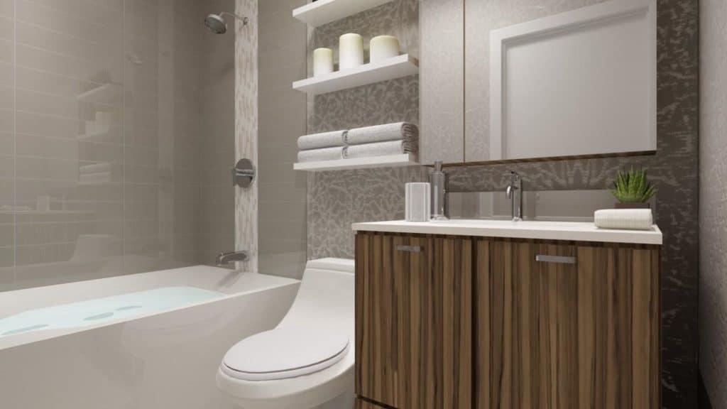 SkyCity Condos - Suite - Bathroom - Interior Render